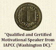 qualified and certified motivational speaker from iapcc